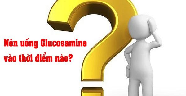 Hình: Uống Glucosamine vào thời điểm nào trong ngày là tốt nhất được nhiều người quan tâm